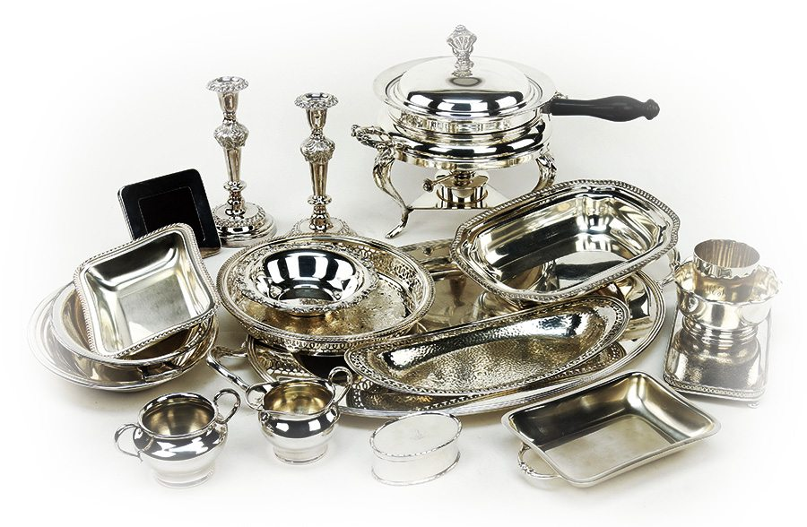 Antiques & Consignments on the Square - Antique Silver Serving Pieces